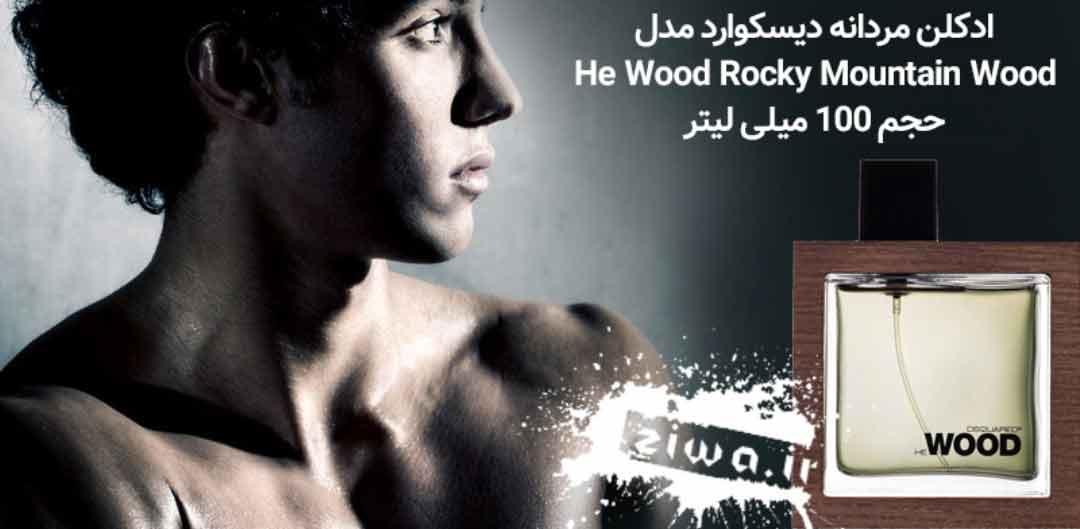 ادکلن مردانه دیسکوارد مدل He Wood Rocky Mountain Wood حجم 100 میلی لیتر
