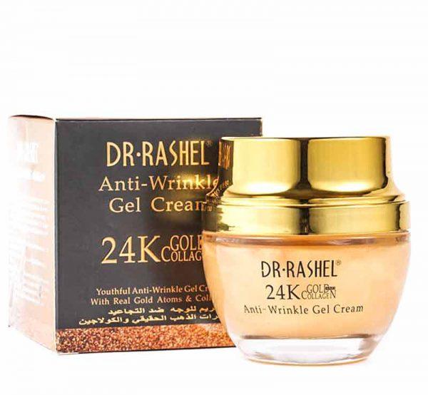 کرم ژل ضد چروک صورت دکتر راشل مدل 24K Gold and Collagen