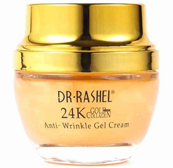 ژل کرم ضد چروک صورت دکتر راشل مدل 24K gold gollagen
