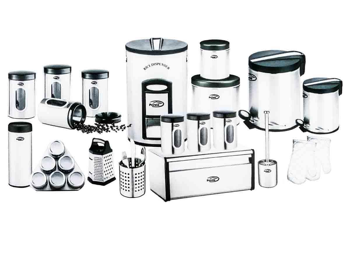 ست آشپزخانه استیل پرشیا فرانس ۲۴ پارچه مدل PR9009