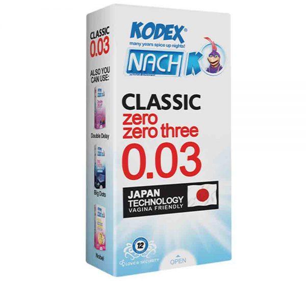 کاندوم ناچ کدکس کلاسیک زیرو زیرو تری NACH KODEX CLASSIC Zero Zero Three 0.03